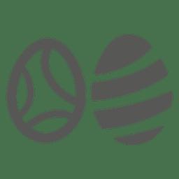 Icono de 2 huevos de pascua