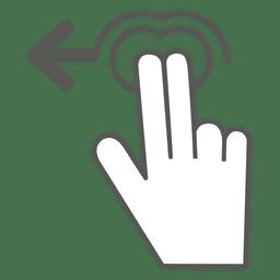 2x deslize para a esquerda para o ícone do gesto