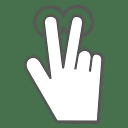 2x ícone de gesto de toque