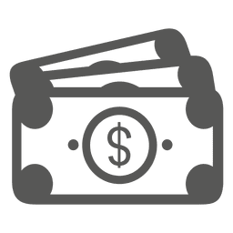 3 dollar bills icon