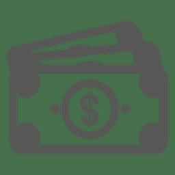 Ícone de notas de 3 dólares