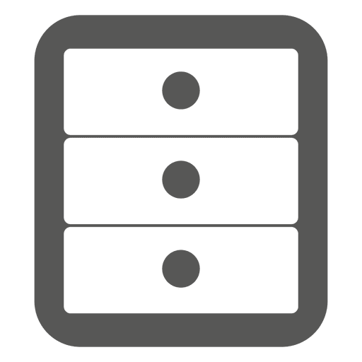 3 drawers cabinet icon Transparent PNG