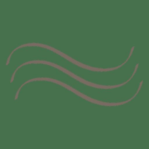 Dekoration mit 3 Wellenlinien Transparent PNG