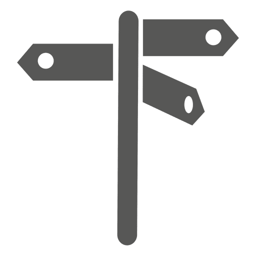 3 way street sign icon Transparent PNG