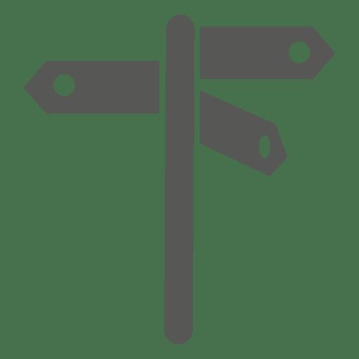 3 way street sign icon