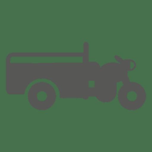 Icono lateral de la motocicleta de 3 ruedas Transparent PNG