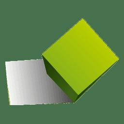 Forma de cubo 3d
