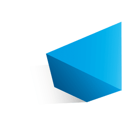 forma de triángulo 3d