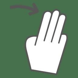 3x deslize o ícone do gesto à direita