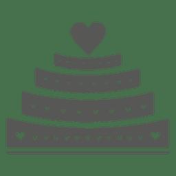 Pastel de bodas de 4 capas