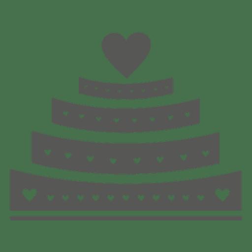 Pastel de bodas de 4 capas Transparent PNG