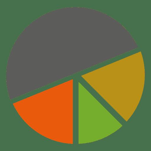 Infográfico de piechart de 4 partes Transparent PNG