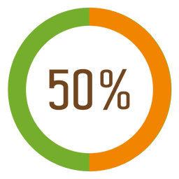 50 percent infographic
