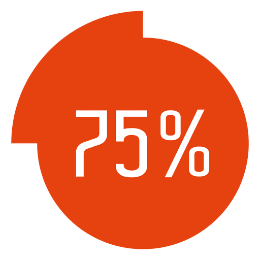 75 percent completed circle infographic Transparent PNG