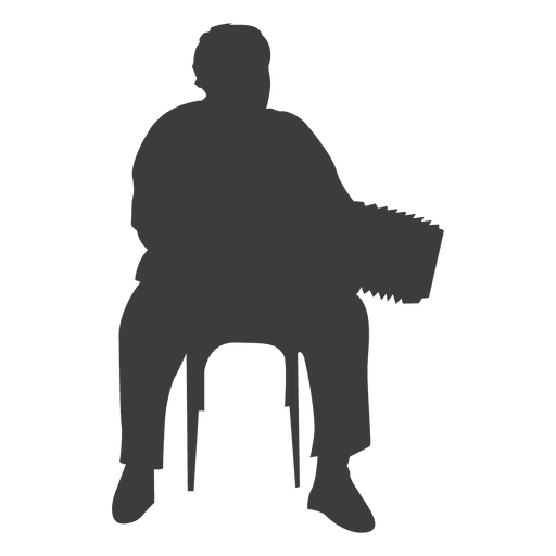 Accordion player silhouette Transparent PNG