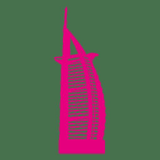 Skyline de Burj al Arab Transparent PNG