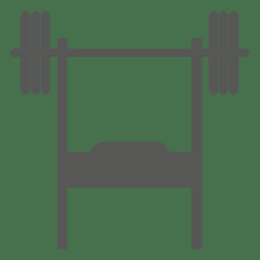 Icono de press de banca inclinado Transparent PNG