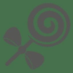Icono de bastón de caramelo de menta
