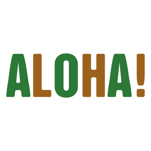 Aloha logo - Transparent PNG & SVG vector