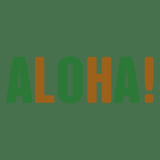 Logotipo da Aloha Transparent PNG