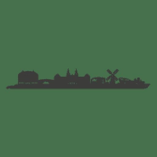 Silhueta do horizonte de Amsterdam Transparent PNG