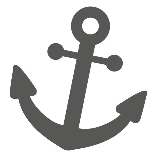 Anchor icon silhouette - Transparent PNG & SVG vector
