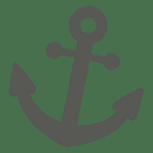 Silueta de icono de ancla Transparent PNG