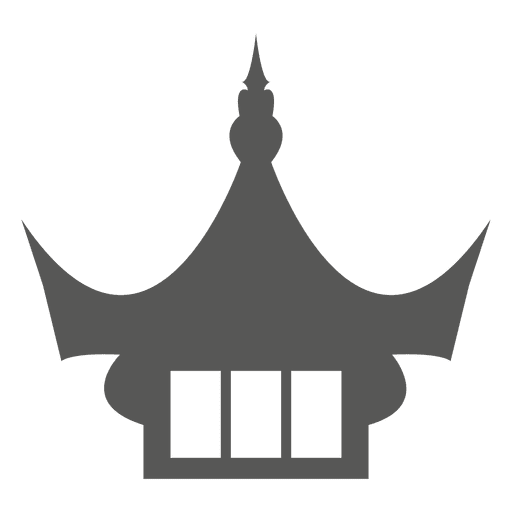 Ancient chinese temple rooftop icon