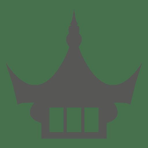 Icono de la azotea del templo chino antiguo