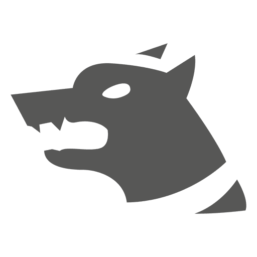 Angry security dog icon Transparent PNG