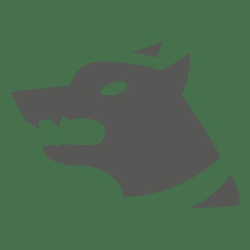 Icono de perro de seguridad enojado