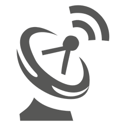 Antenna tower and waves icon