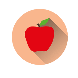 Apple circle icon