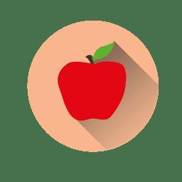 Icono de círculo de manzana