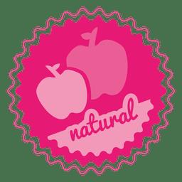 Placa de círculo natural de manzana.