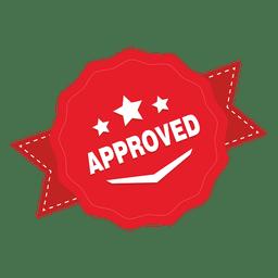 Emblema redondo aprovado