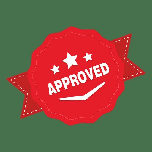 Emblema redondo aprovado Transparent PNG