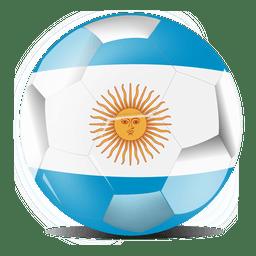 Bola de bandeira da argentina
