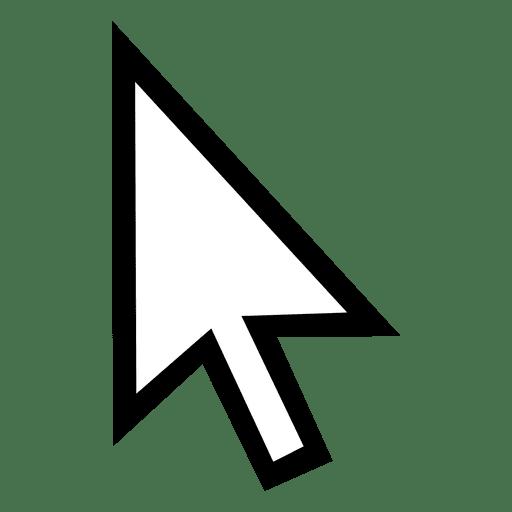 Cursor de contorno de seta Transparent PNG