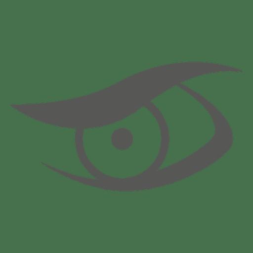Icono de ojo artístico