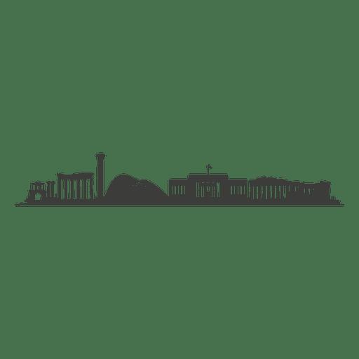 Silhueta de horizonte de Atenas Transparent PNG