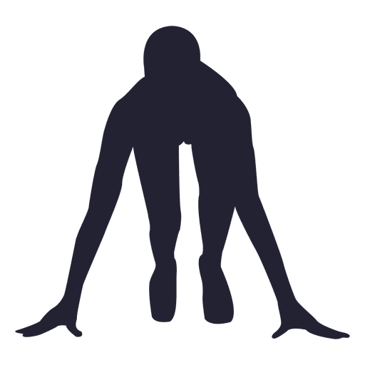 Atleta na silhueta de marca Transparent PNG