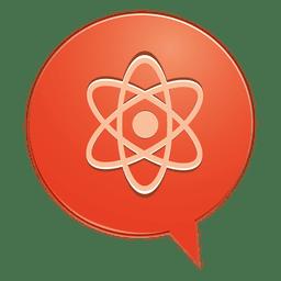 Atomic bubble icon