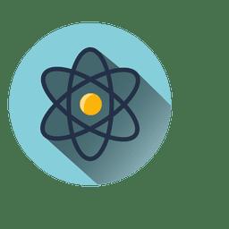 Icono de círculo atómico