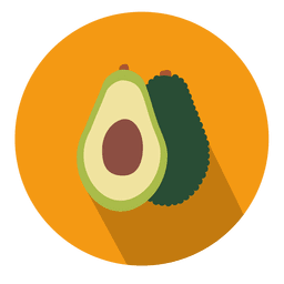 Avocado circle icon