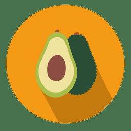 Icono de círculo de aguacate