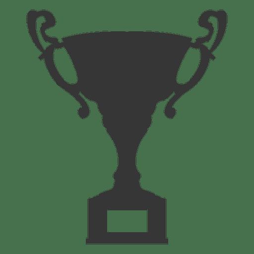 Award trophy silhouette