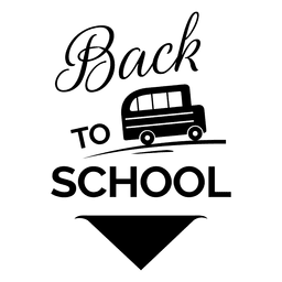 Back to school emblem