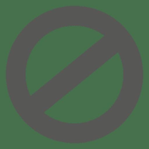 Ban circle sign