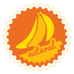 Banane natürlichen Kreis Abzeichen
